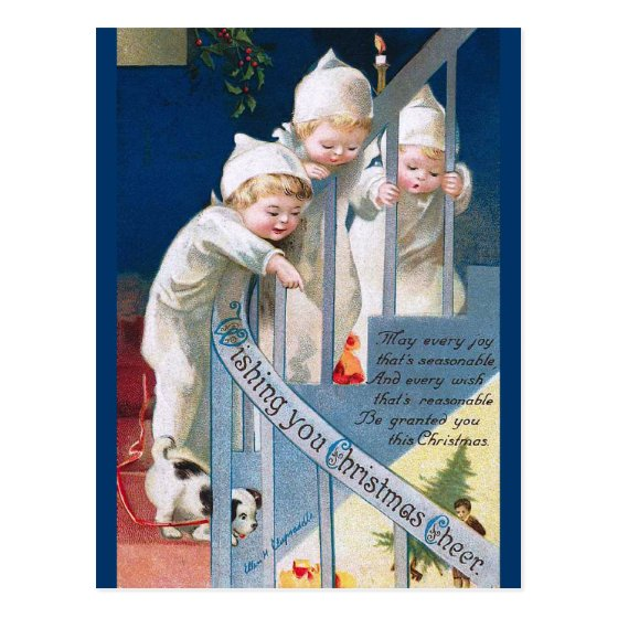 Ellen H. Clapsaddle: Christmas Cheer Postcard