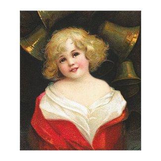 Ellen Clapsaddle: Christmas Girl with Bells