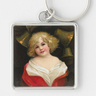 Ellen H. Clapsaddle - Christmas Girl with Bells Keychain