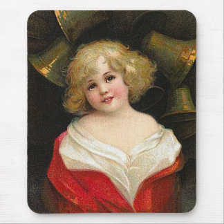 Ellen H. Clapsaddle - Christmas Girl with Bells Mouse Pad