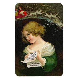 Ellen H. Clapsaddle - Christmas Girl with Letter Magnet
