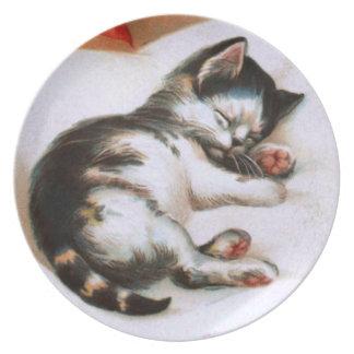 Ellen H. Clapsaddle: Christmas Kitten Dinner Plate