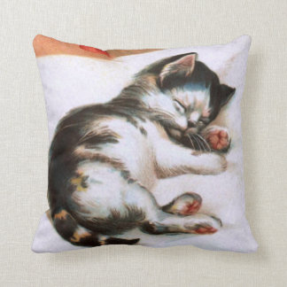 Ellen H. Clapsaddle: Christmas Kitten Pillow