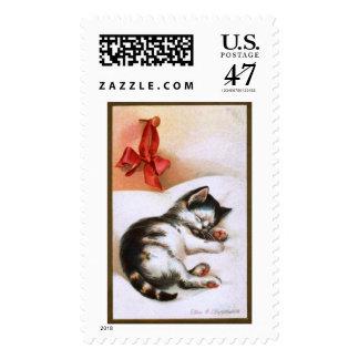 Ellen H. Clapsaddle: Christmas Kitten Postage