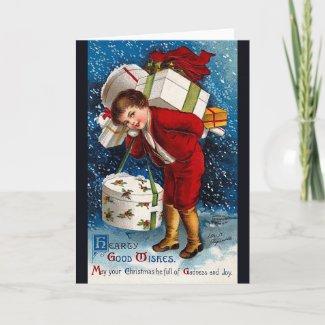 Ellen Clapsaddle: Christmas Shopping Boy