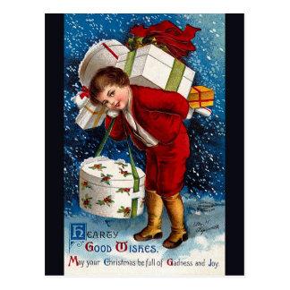Ellen H. Clapsaddle - Christmas Shopping Boy Postcard