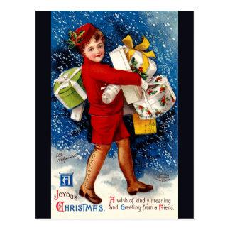 Ellen H. Clapsaddle - Christmas Shopping Girl Postcard