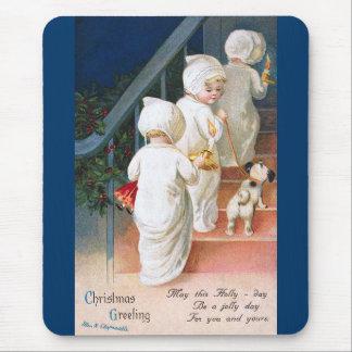 Ellen H. Clapsaddle: Christmas Toddler Girls Mouse Pad