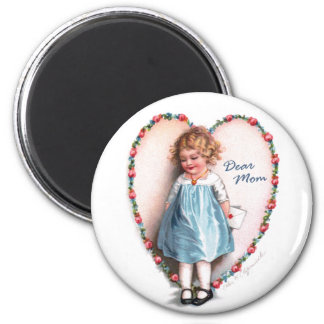 Ellen H. Clapsaddle: Dear Mom 2 Inch Round Magnet