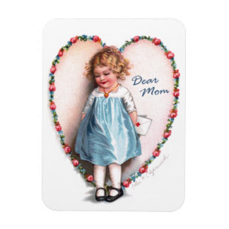 Ellen H. Clapsaddle: Dear Mom Rectangular Photo Magnet