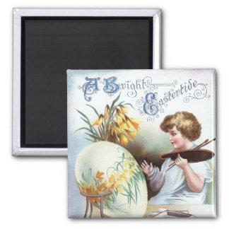 Ellen H. Clapsaddle: Easter Egg 1 2 Inch Square Magnet