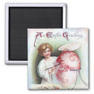 Ellen H. Clapsaddle: Easter Egg 2 2 Inch Square Magnet