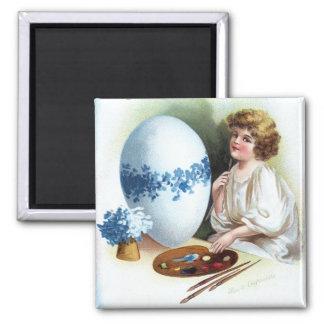 Ellen H. Clapsaddle: Easter Egg 3 2 Inch Square Magnet
