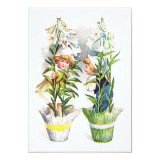 Ellen H. Clapsaddle: Easter Flower Children Card