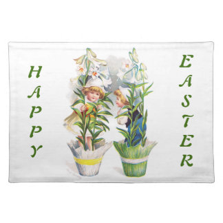 Ellen H. Clapsaddle: Easter Flower Children Cloth Placemat