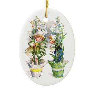 Ellen H. Clapsaddle: Easter Flower Children ornament