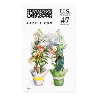 Ellen H. Clapsaddle: Easter Flower Children Postage