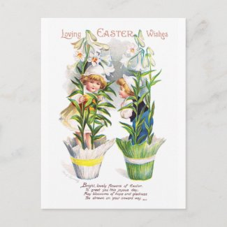 Ellen H. Clapsaddle: Easter Flower Children postcard