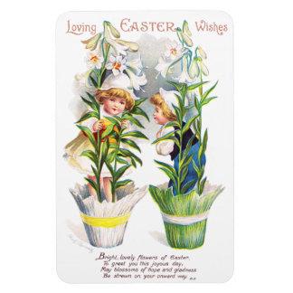 Ellen H. Clapsaddle: Easter Flower Children Rectangular Photo Magnet