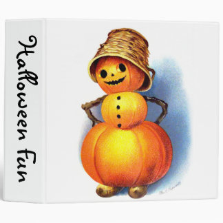 Ellen H. Clapsaddle: Funny Pumpkin Character 3 Ring Binder