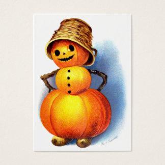 Ellen H. Clapsaddle: Funny Pumpkin Character Business Card