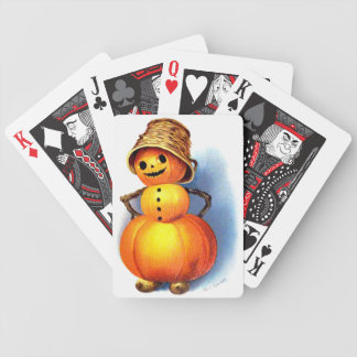 Ellen H. Clapsaddle: Funny Pumpkin Character Bicycle Playing Cards