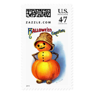 Ellen H. Clapsaddle: Funny Pumpkin Character Postage