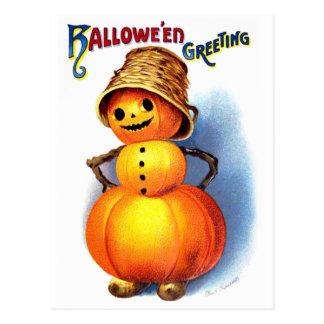 Ellen H. Clapsaddle: Funny Pumpkin Character Postcard