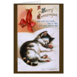 Ellen H. Clapsaddle: Gatito del navidad Felicitación