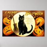 Ellen H. Clapsaddle: Gato de Halloween Impresiones