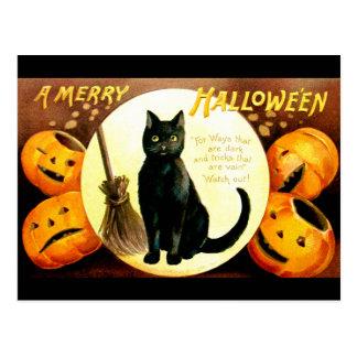 Ellen H. Clapsaddle: Gato de Halloween Tarjeta Postal