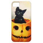Ellen H. Clapsaddle: Gato negro en Jack O'Lantern iPhone 5 Case-Mate Funda