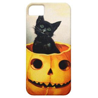 Ellen H. Clapsaddle: Gato negro en Jack O'Lantern Funda Para iPhone 5 Barely There