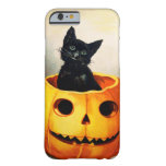 Ellen H. Clapsaddle: Gato negro en Jack O'Lantern Funda De iPhone 6 Barely There