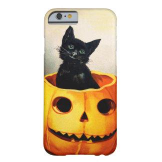 Ellen H. Clapsaddle: Gato negro en Jack O'Lantern Funda Para iPhone 6 Barely There