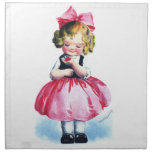 Ellen H. Clapsaddle: Girl with Heart Cloth Napkins