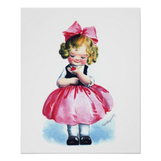 Ellen H. Clapsaddle: Girl with Heart Poster