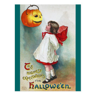 Ellen H. Clapsaddle: Girl with Jack O'Lantern Postcard