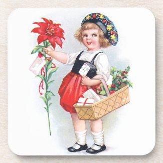 Ellen H. Clapsaddle: Girl with Poinsettia