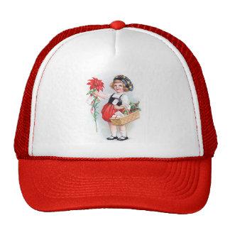 Ellen H. Clapsaddle: Girl with Poinsettia Trucker Hat