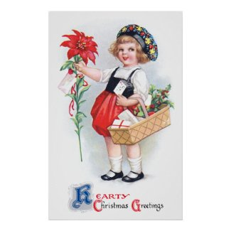 Ellen H. Clapsaddle: Girl with Poinsettia