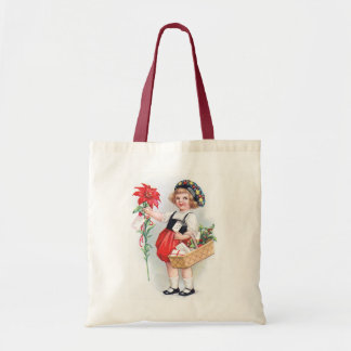Ellen H. Clapsaddle: Girl with Poinsettia Tote Bag