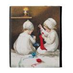 Ellen H. Clapsaddle: Girls Stitching Stockings iPad Folio Cover