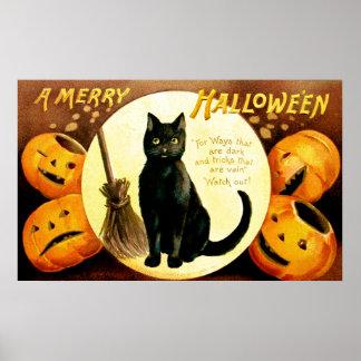 Ellen H. Clapsaddle: Halloween Cat Poster