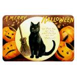 Ellen H. Clapsaddle: Halloween Cat Rectangular Photo Magnet