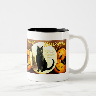 Ellen H. Clapsaddle: Halloween Cat Two-Tone Coffee Mug