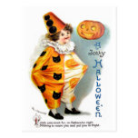 Ellen H. Clapsaddle: Halloween Harlequin Postcard