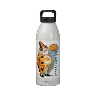 Ellen H. Clapsaddle: Halloween Harlequin Reusable Water Bottles