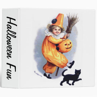 Ellen H. Clapsaddle: Halloween Harlequin with Cat Binder