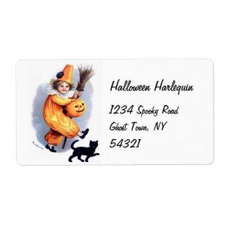 Ellen H. Clapsaddle: Halloween Harlequin with Cat